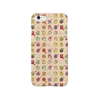 フルーツ猫 チラシ柄iPhoneケース スマートフォンケース