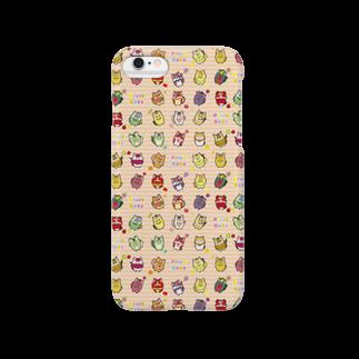 にゃんこグッズ●佐藤家のフルーツ猫 チラシ柄iPhoneケース Smartphone cases