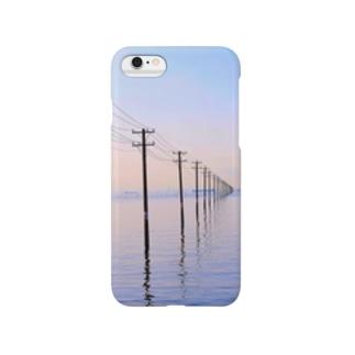 海 電柱 Smartphone cases
