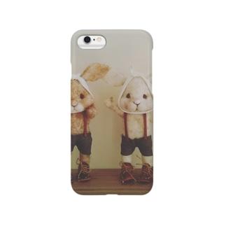虫歯うさぎのにらめっこ Smartphone cases