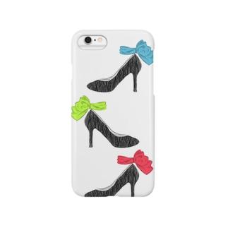 履きたいけど履けないヒール(3色) Smartphone cases