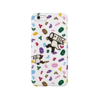 こいのぼりマン_ボルダリング柄 Smartphone cases