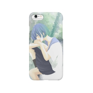 ヒトリちゃん*青 Smartphone cases
