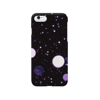 雪が舞う(purple) Smartphone cases