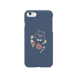 らくがき風くまさん Smartphone cases