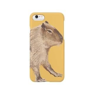 カピバラの絵 Smartphone cases