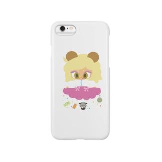 お菓子なくまちゃん Smartphone cases