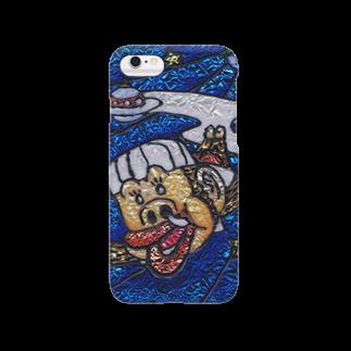 つの丸のスペースモンモン Smartphone cases