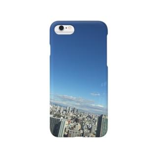 ハルカス-blue Smartphone cases