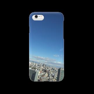 【ゆみあ式】エッセンシャルライフのススメのハルカス-blue Smartphone cases