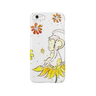 幸せのお花とさる Smartphone cases