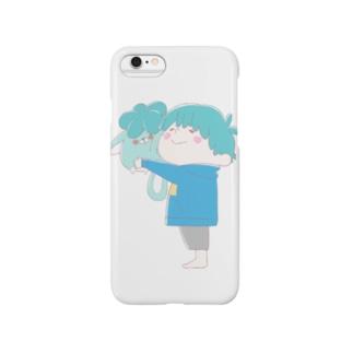じんねこぬいぐるみ 淡い色ver Smartphone cases