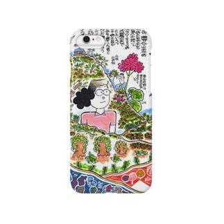 丹沢・塔ノ岳と尊仏岩のコイワザクラ スマートフォンケース