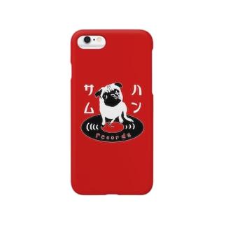 ハンサムレコード公式ロゴ(iPhone赤色) Smartphone cases