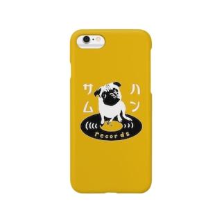 ハンサムレコードロゴ(iPhone黄色) Smartphone cases