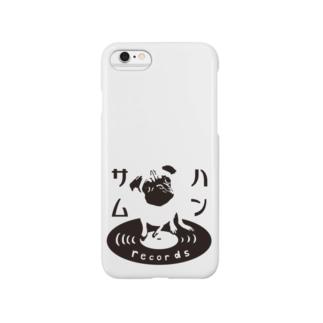 ハンサムレコードロゴ(黒) Smartphone cases