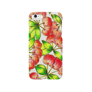 Tommy_is_mozukuのcherry Smartphone cases
