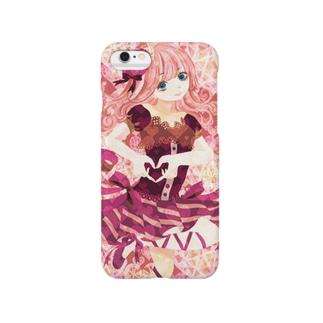 ハートとリボンと少女 Smartphone cases
