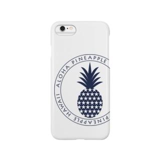 パイナップル 22(star)ネイビー Smartphone cases