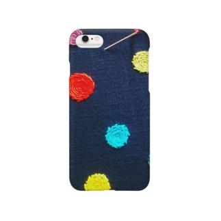 水玉刺繍 Smartphone cases