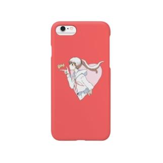 BANG女子高生(セーラー服)赤 Smartphone cases