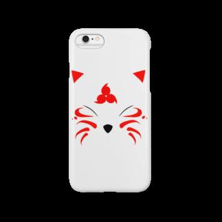 Liar Clownの妖狐_赤 Smartphone cases