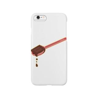 とろけるチョコ★ひとさじ Smartphone cases