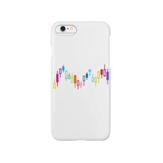 AURA_HYSTERICAのローソク足 Smartphone cases