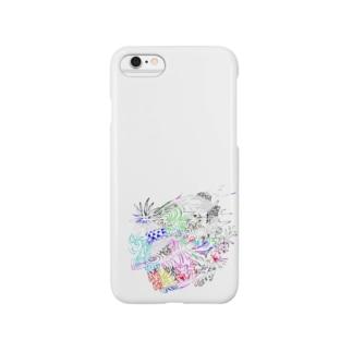 薺のライオン Smartphone cases