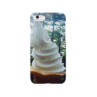 おいしい空気とソフトクリームを Smartphone cases