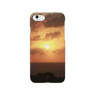 沖縄の夕日 Smartphone cases