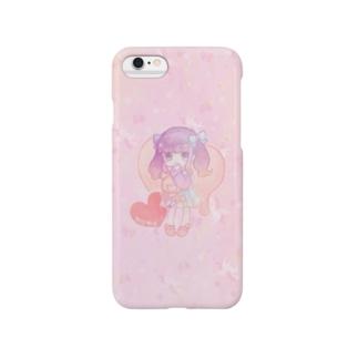ゆめかわいい(ピンク) スマートフォンケース