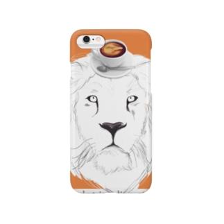 ライオン オレンジ Smartphone cases