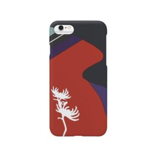 紅菊模様 Smartphone cases