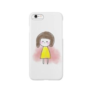 きいろの女の子 Smartphone cases