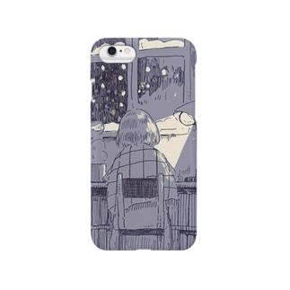 雪の降る夜に Smartphone cases