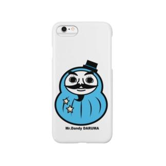 Mr.Dandy DARUMA (水色) Smartphone cases