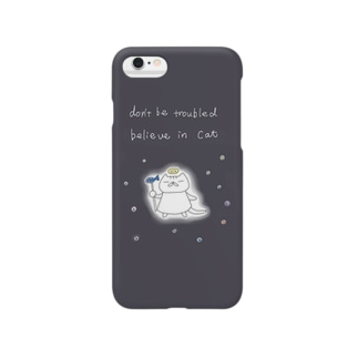 CAT IS GOD blue Smartphone cases