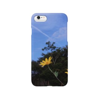 hiroki-naraの菊芋と樹木と空 DATA_P_140 tree sky Smartphone cases