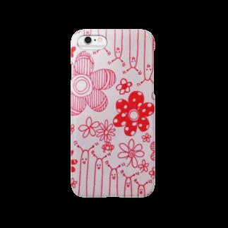 sayaoooの空間の宇宙生物とお花畑 Smartphone cases
