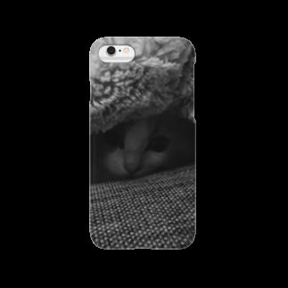 makinboのダークカラーねこ。ちびつみれ Smartphone cases