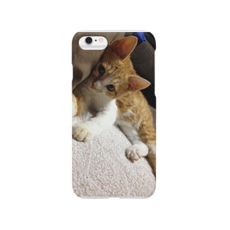 生後半年のぽてとさん☆ Smartphone cases