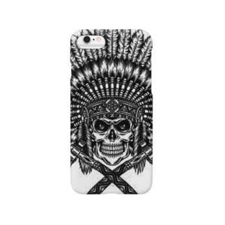 インディアン髑髏スマートフォンケース Smartphone cases