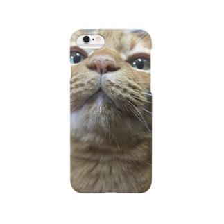 にゃんこ口元スマホケース Smartphone cases