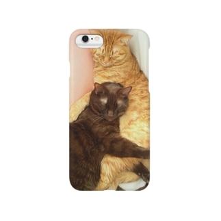 うたた寝にゃんこ Smartphone cases