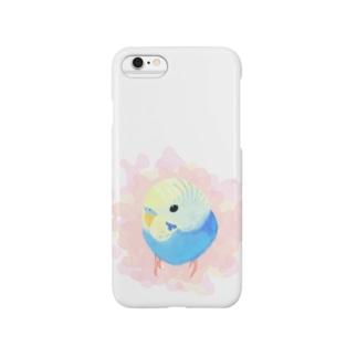 まるまるセキセイインコ【まめるりはことり】 Smartphone cases