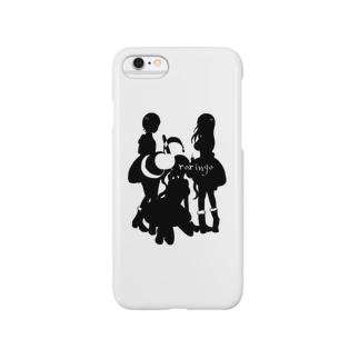 守り隊(黒ver) Smartphone cases