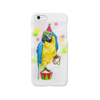 ルリコンゴウインコ Smartphone cases