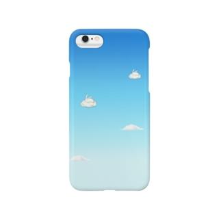 雲とうさぎ Smartphone cases