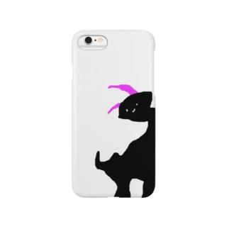 ブラックしょんもり Smartphone cases